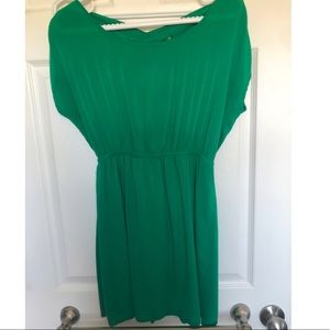 Urban outfitters green dress with elastic waist